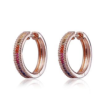 Orphelia Silver 925 Hoop Earring with Multicolored Stones and Zirconium - ZO-7448