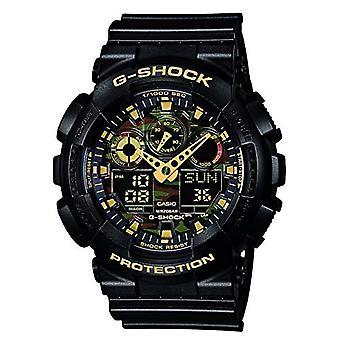 Casio analog-digital Watch quartz men with synthetic resin Strap GA-100pk-1A9ER