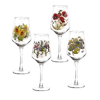 Portmeirion sett med 4 Botanic Garden vin glass