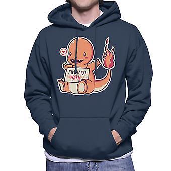 Niedliche Glumanda krank halten Sie Warm Pokemon Herren Sweatshirt mit Kapuze
