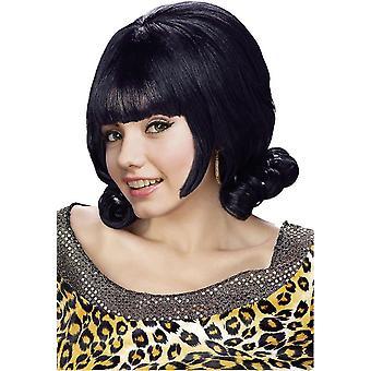 Black Flip Wig For Women