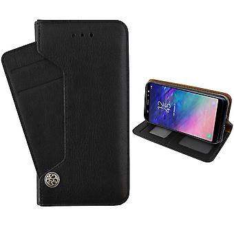 Colorfone Portefeuille Deluxe Case Huawei Mate 20 Lite Portefeuille Cas BLACK
