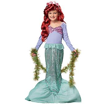 Petite histoire de conte de fées de Ariel princesse sirène livre semaine Dress Up Girl Costume
