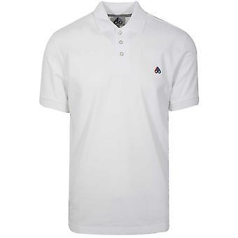 Moose Knuckles White Logo Polo Shirt