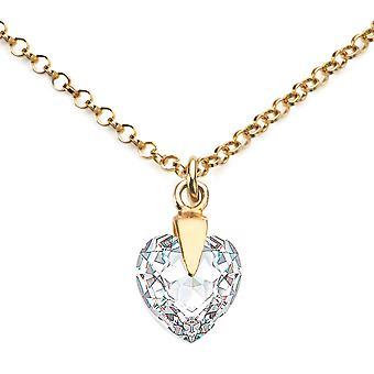 آه المجوهرات بلورات القلب واضحة من سواروفسكي في الذهب 24k