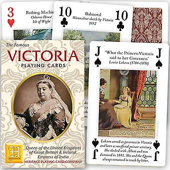 Queen Victoria (Her Life & Reign) Deck von 52 Spielkarten + Jokern (hpc)