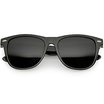 Klassische Horn umrandeten Sonnenbrille Wide Waffenplatz Super dunkel Objektiv 54mm