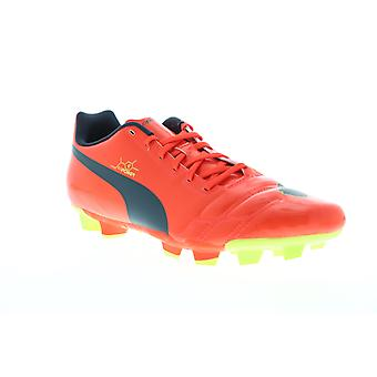 Puma EvoPower 4 FG Hommes Orange Low Top Athletic Soccer Cleats Chaussures