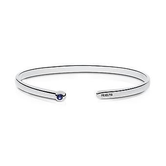 Philadelphia Phillies Engraved Sterling Silver Sapphire Cuff Bracelet