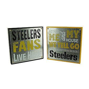 NFL Pittsburgh Steelers Football Fan and Go Steelers Wall Hangings