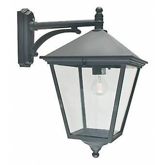 1 luz exterior da lanterna de parede luz preta Ip54