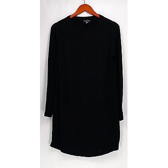 AnyBody Sweater Loungewear Brushed Hacci Tunic Black A293073