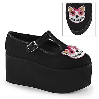 Demonia Women's Chaussures CLICK-04-1 Blk Toile