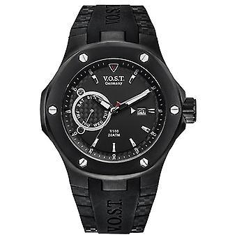 V.O.S.T. Germany V 100.014 Black Multifunction men's Watch 44mm