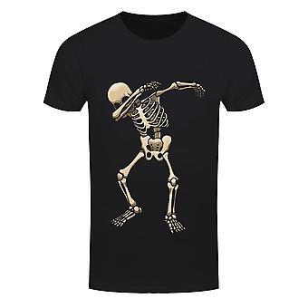 Grindstore miesten luuranko DAB Halloween T-paita