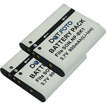 2 x Dot.Foto Sony NP-BK1 vervangingsbatterij - 3.7V / 900mAh