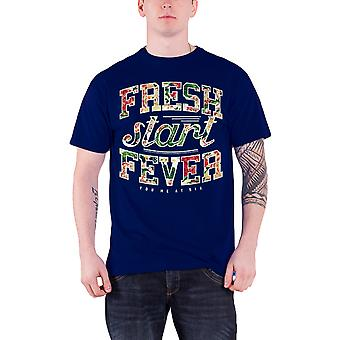 You Me At Six T Shirt Fresh Start Fever band logo new Official Mens Black