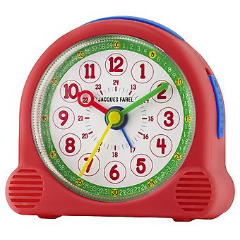 JACQUES FAREL Children's Alarm Clock Alarm Clock Happy Analog Quartz Girl ACL 03 Red