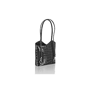 Shopping Bag Croc Style Leather 12.0