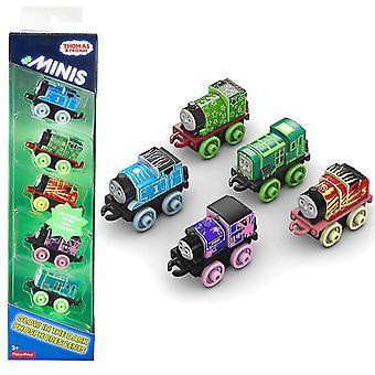 5-Pack Thomas & Friends Minis brilla nel treno giocattolo scuro