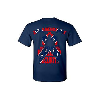 Men's Confederate Rebel Flag T Shirt Americas Original Homeland Security - Logo on Back