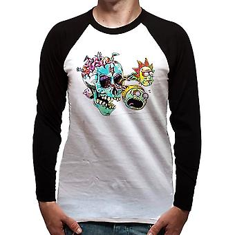 Men's Rick and Morty Skull Eyes Long Sleeve Top