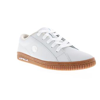 Airwalk The One Gum Mens White Leather Low Top Chaussures de skate athlétique