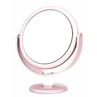 Danielle Creations Metallic Soft Touch Vanity Mirror x10 magnifying - Blush Pink