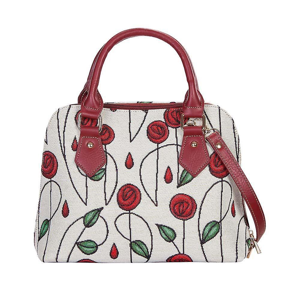 Mackintosh - simple rose top-handle shoulder bag by signare tapestry / conv-rmsp