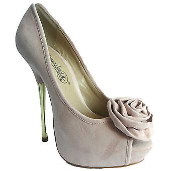 Rascal Oregon Rose Corsage Peeptoe Heels