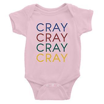 365 Drukowanie Cray Baby Bodysuit Prezent Różowy Dla Baby Boy Urodziny Baby Kombinezon
