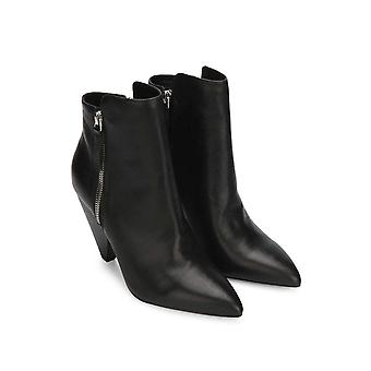Kenneth Cole New York Women's Galway Side Zip Heeled Bootie Ankle Boot, Black...