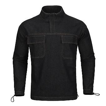 Alle Themen Men's Casual Fashion 1980's Kragen Denim Top Shirt
