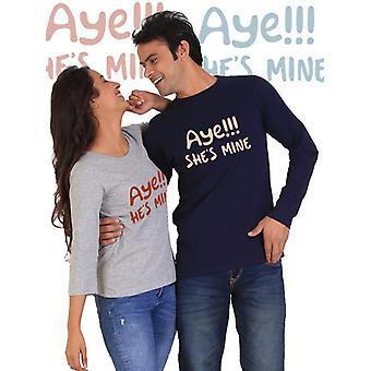 Ja, er ist mein, ja ist sie mir paar voll Ärmeln t-shirt