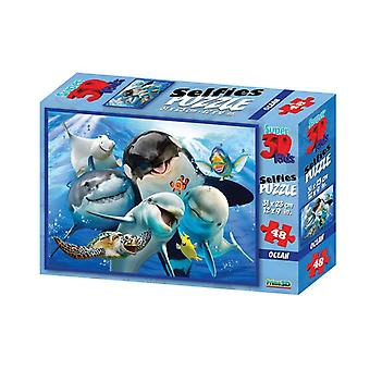 Prime 3D Puzzle 31x23cm 48pcs. Selfie Ocean 4+