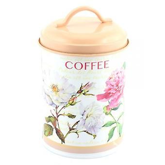 Leonardo Flower Garden Collection Coffee Canister with Lid & Handle