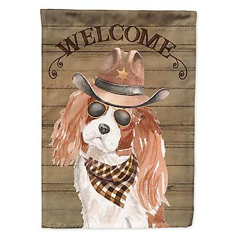 Cavalier King Charles Spaniel Country Dog Flag Canvas House Size