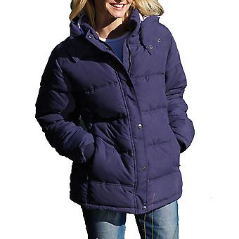 Ladies Country Estate Zip & Stud Front Closure Padded Jacket With Hood