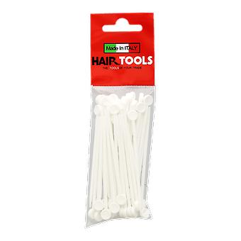 Hairtools Deluxe Plastic Roller Pins White (50 pack)