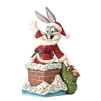 Jim Shore Looney Tunes Up On The Roof Top Bugs Bunny Christmas Figurine