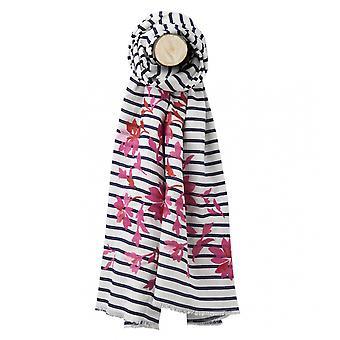Joules Joules Flora Womens geborduurde katoenen sjaal S/S 19