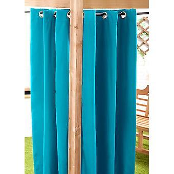 Turquoise 140x270cm Outdoor Curtain Eyelet Panel Garden Décor Drape Patio Shade
