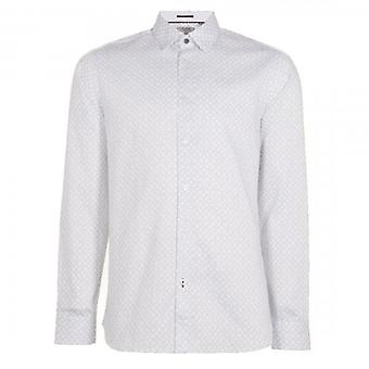 Ted Baker Whonos LS Geo Printed Shirt White