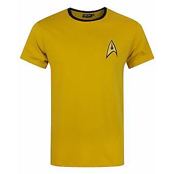 Star Trek Command Uniform Yellow  James T Kirk Men's Starship T-Shirt
