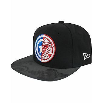 New Era 9Fifty Captain America Civil War Logo Viza Print Snapback Cap