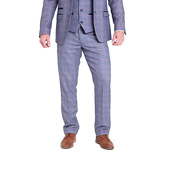 Marc Darcy Harry Blauwe Tweed Broek