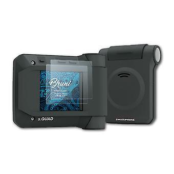 Bruni 2x Screen Protector compatibel met Swissphone s.QUAD X35 Beschermende film