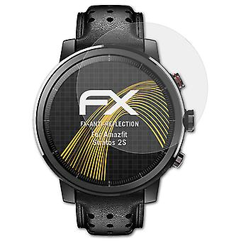 atFoliX 3x Protective Film compatible with Amazfit Stratos 2S Screen Protector clear&flexible