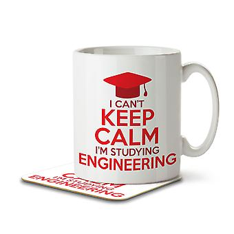 I Can't Keep Calm I'm Studying Engineering - Mug and Coaster