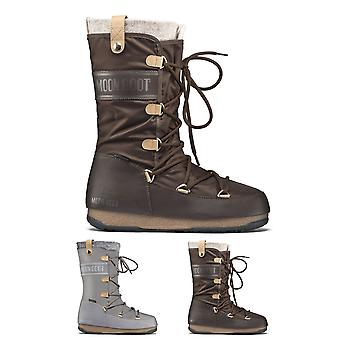 Womens Original Tecnica Moon Boot We Monaco Felt Waterproof Winter Snow Knee High Boots